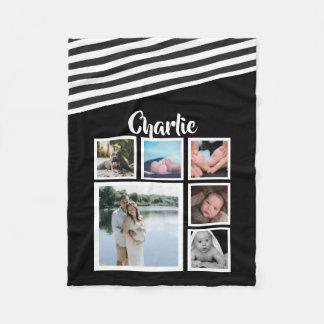 Cobertor De Velo Projete seu próprio preto e branco personalizado