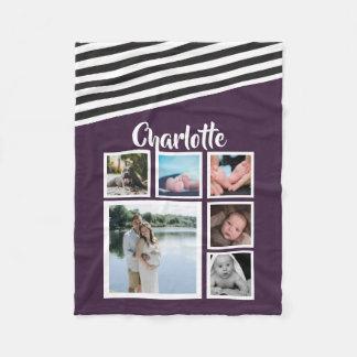 Cobertor De Velo Projete seu próprio roxo personalizado original