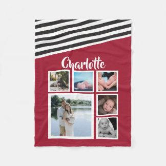 Cobertor De Velo Projete seu próprio vermelho personalizado
