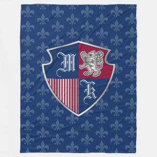 Cobertor De Velo Protetor de prata do emblema do monograma da