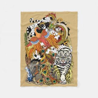 Cobertor De Velo quatro animais celestiais
