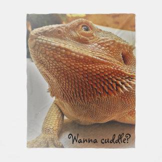 Cobertor De Velo Queira afagar o impressão farpado bonito do dragão