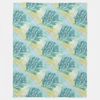 Cobertor De Velo Ramo do coral de turquesa