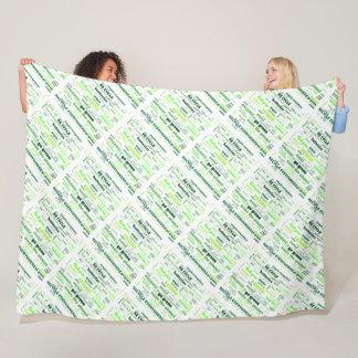 Cobertor De Velo Reduza, reúso, recicl a nuvem da palavra
