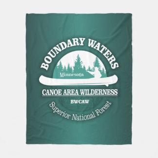 Cobertor De Velo Região selvagem da fuga da canoa das águas do