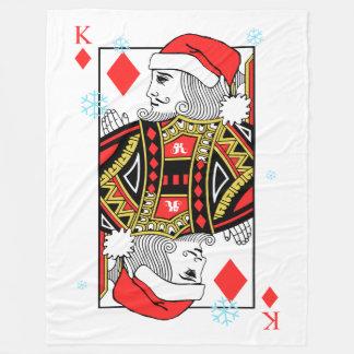 Cobertor De Velo Rei do Feliz Natal dos diamantes