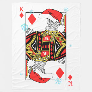 Cobertor De Velo Rei do Feliz Natal dos diamantes - adicione suas