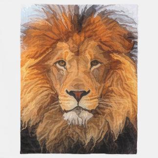 Cobertor De Velo Rei pintado do leão do gato grande da cobertura do