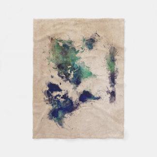 Cobertor De Velo respingo do mapa do mundo