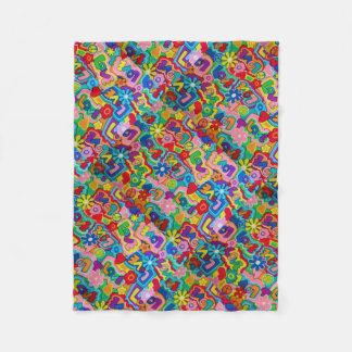 Cobertor De Velo Retro/60s paz, amor, chique da guerra