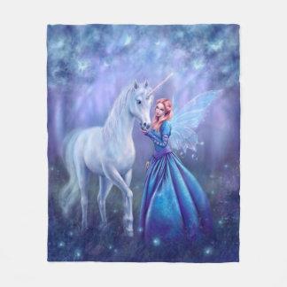 Cobertor De Velo Rhiannon - fada do unicórnio e da borboleta