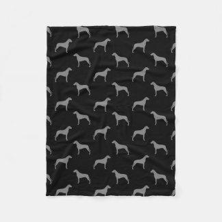 Cobertor De Velo Rhodesian Ridgeback mostra em silhueta o teste