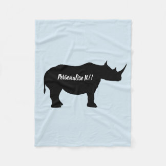 Cobertor De Velo Rinoceronte da silhueta