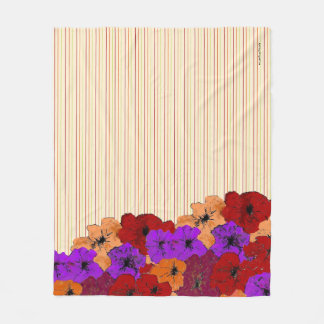 Cobertor De Velo Riscas coloridas dos Wildflowers