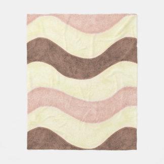 Cobertor De Velo Rosa, branco e Brown