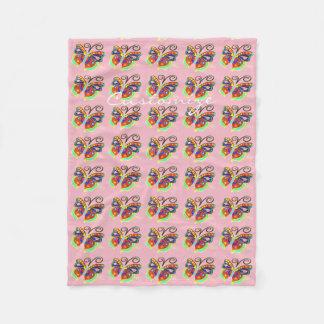 Cobertor De Velo rosa colorido de Thunder_Cove do teste padrão de