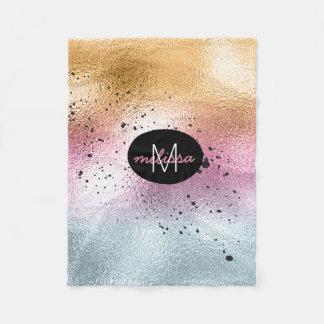Cobertor De Velo Rosa de vidro ID444 do monograma do inclinação e