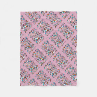 Cobertor De Velo Rosa Funky manchado de tinta da arte do teste