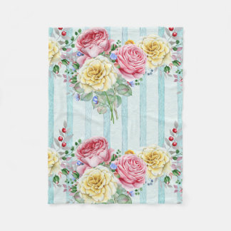 Cobertor De Velo Rosas coloridos do buquê