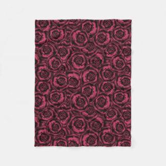 Cobertor De Velo Rosas de Borgonha