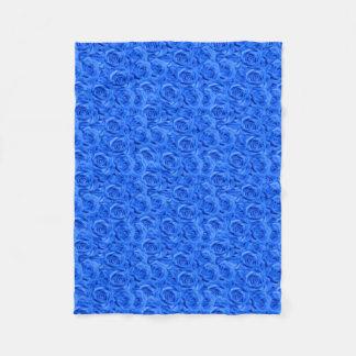 Cobertor De Velo Rosas telhados azuis