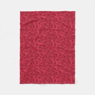 Cobertor De Velo Rosas telhados vermelhos