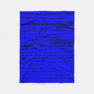 Cobertor De Velo Roteiro bonito do esboço por Thos. Jefferson 1776