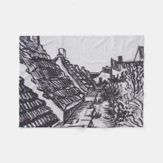 Cobertor De Velo Rua em Saintes-Maries por Vincent van Gogh