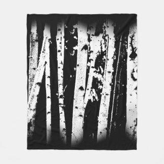 Cobertor De Velo Rústico preto e branco gráfico das árvores de