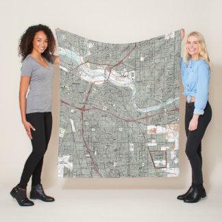 Cobertor De Velo Sacramento Califórnia Mapa (1992)