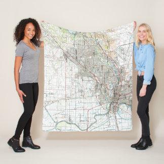 Cobertor De Velo Sacramento Califórnia Mapa (1994)