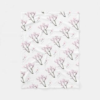 Cobertor De Velo sakura com peixe dourado cor-de-rosa, fernandes