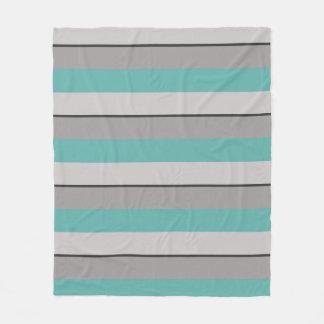 Cobertor De Velo Seaglass e Taupe Multi-Listrados