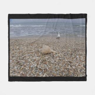 Cobertor De Velo Seashells e gaivota de mar