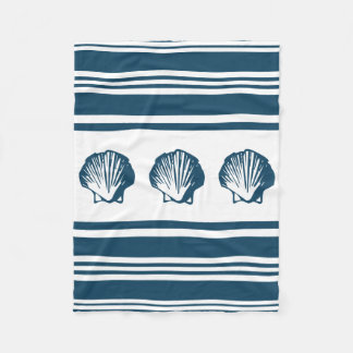 Cobertor De Velo Seashells e listras