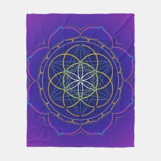 Cobertor De Velo Semente da mandala do yantra da vida & do cubo de