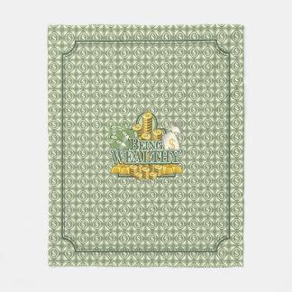 Cobertor De Velo Sendo rico! Luz geral do velo - verde