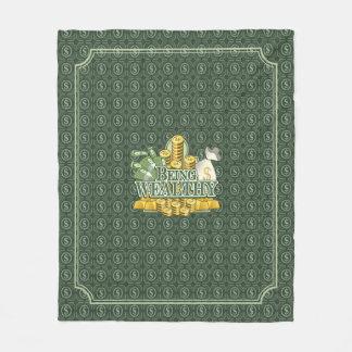 Cobertor De Velo Sendo rico! Verde geral do velo
