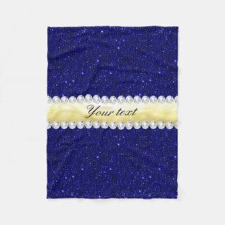 Cobertor De Velo Sequins personalizados do marinho, ouro, diamantes