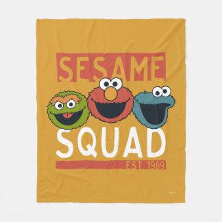 Cobertor De Velo Sesame Street - pelotão do sésamo