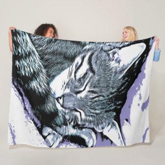 Cobertor De Velo Sesta do gatinho de Bengal