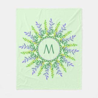 Cobertor De Velo Seu monograma em coberturas de um velo do quadro