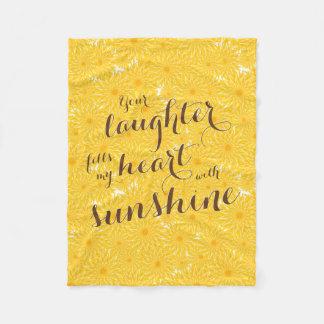 Cobertor De Velo seu riso enche meu coração com a luz do sol floral