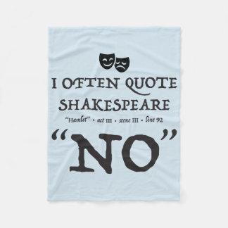 Cobertor De Velo Shakespeare nenhuma cobertura
