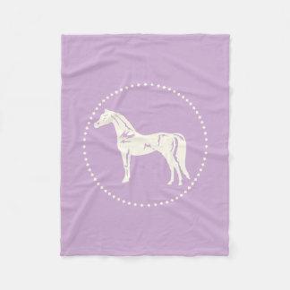 Cobertor De Velo Silhueta árabe do cavalo