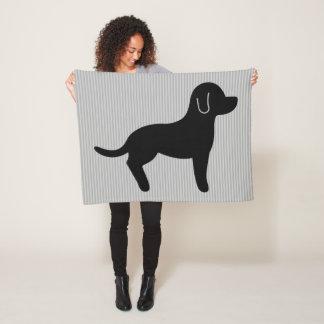 Cobertor De Velo Silhueta do cão preto