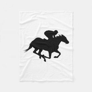 Cobertor De Velo Silhueta do cavalo de raça