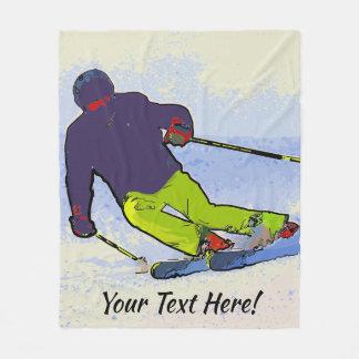 Cobertor De Velo Silhueta do esquiador