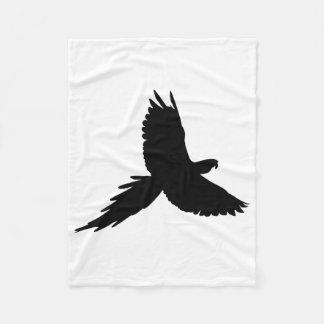 Cobertor De Velo Silhueta do papagaio