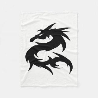 Cobertor De Velo Silhueta tribal do dragão